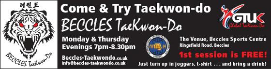 beccles taekwondo advert