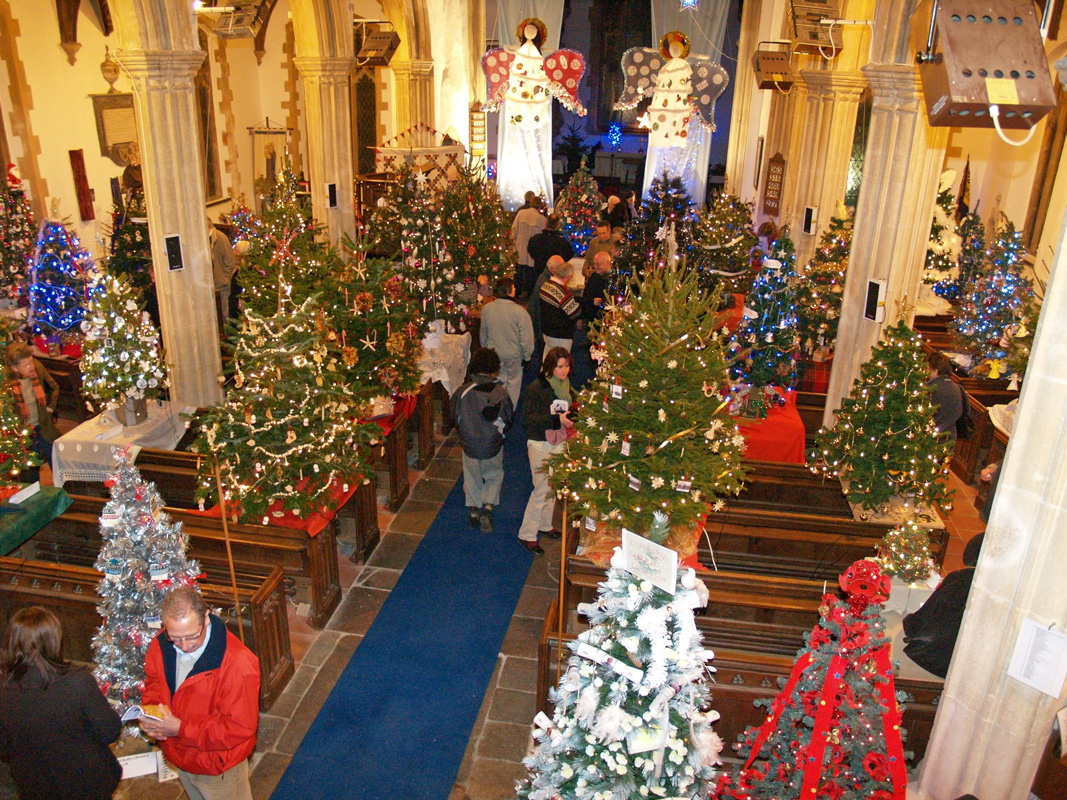 10th Annual 50 Christmas Trees In A Church Dickleburgh