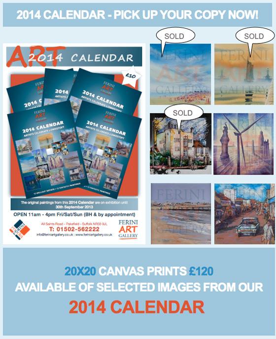 Art Gallery Calendar : Ferini art gallery exhibitions calendar pakefield