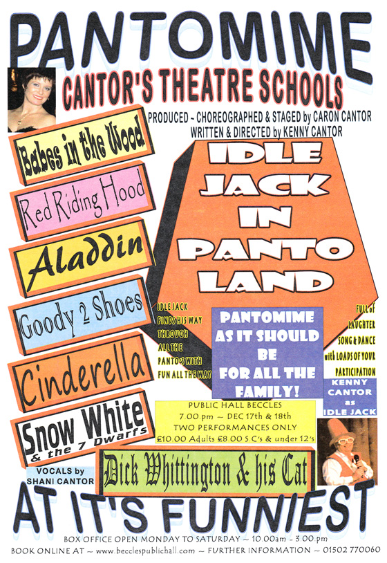 IDLE JACK in PANTO LAND Beccles Public Hall