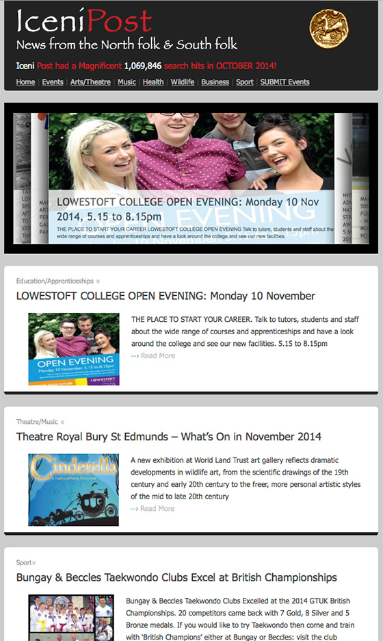Iceni Post Email News 5th November 2014
