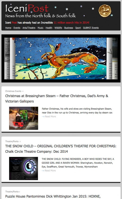 Iceni Post Email News 9th December 2014