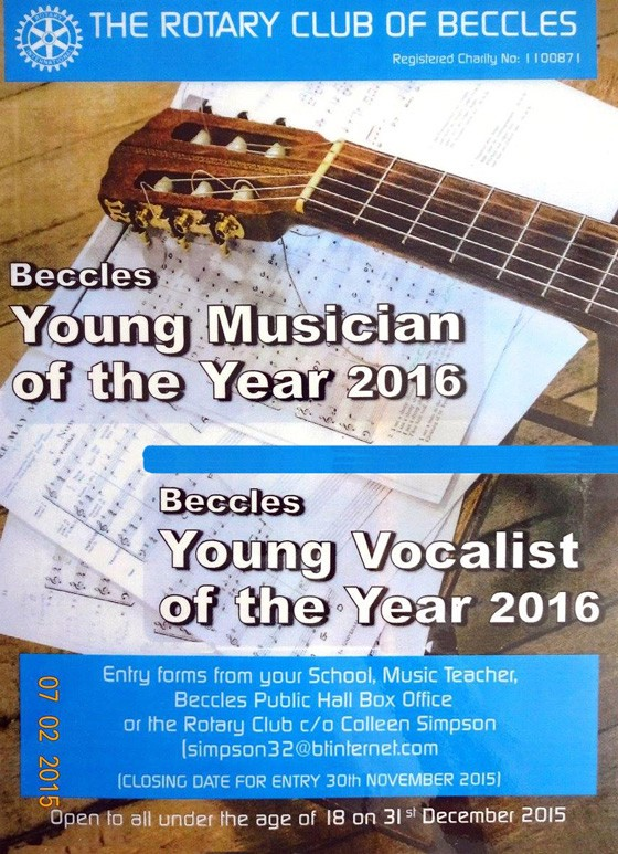 Beccles Rotary Young Musician Young Vocalist of the Year