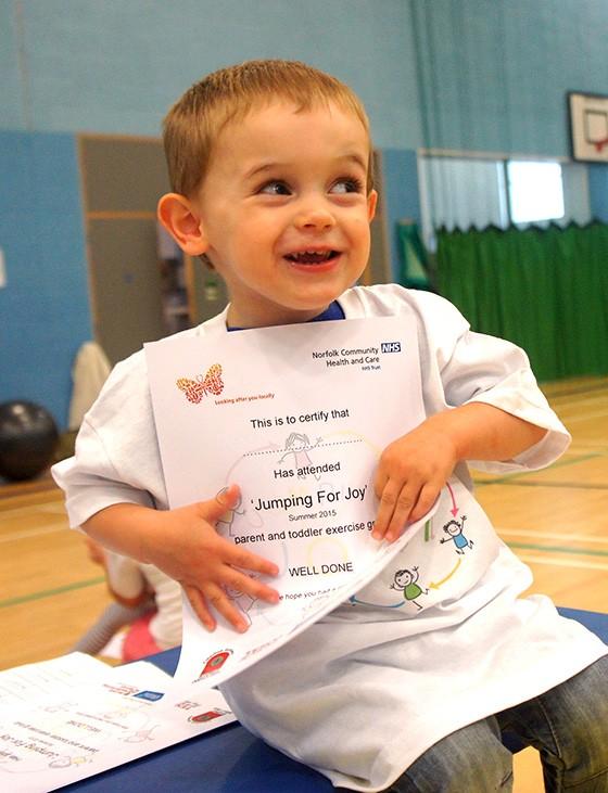 Health trust gets Fakenham families jumping for joy