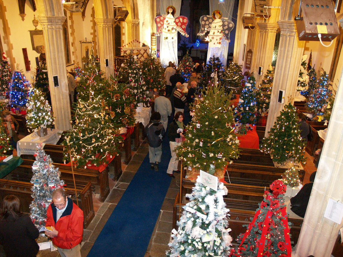 Christmas Tree Extravaganza 50 Christmas Trees Dickleburgh