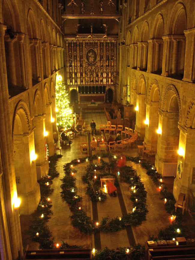 Wymondham Abbey Advent Spiral