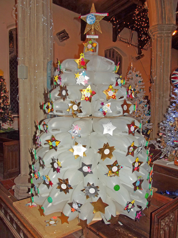 50 Christmas Trees in a Church at All Saints Dickleburgh