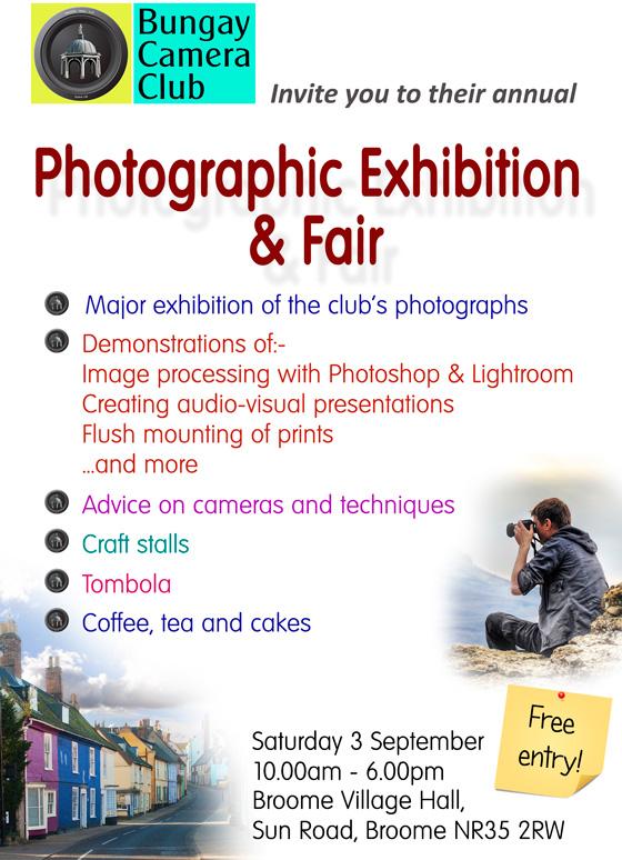 Bungay Camera Club photographic exhibition and fair
