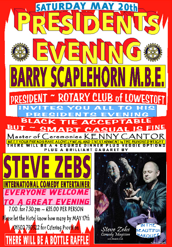 Lowestoft Rotary Club Presidents Evening