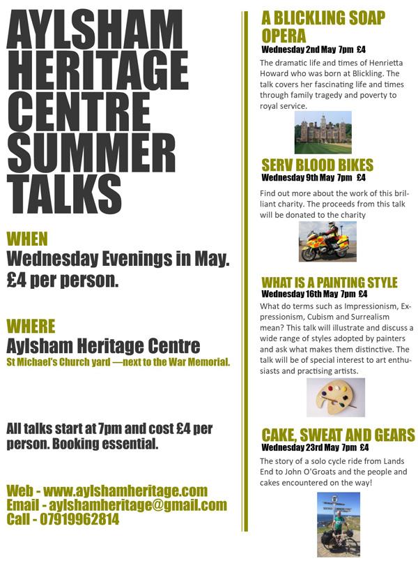 Aylsham Heritage Centre talks