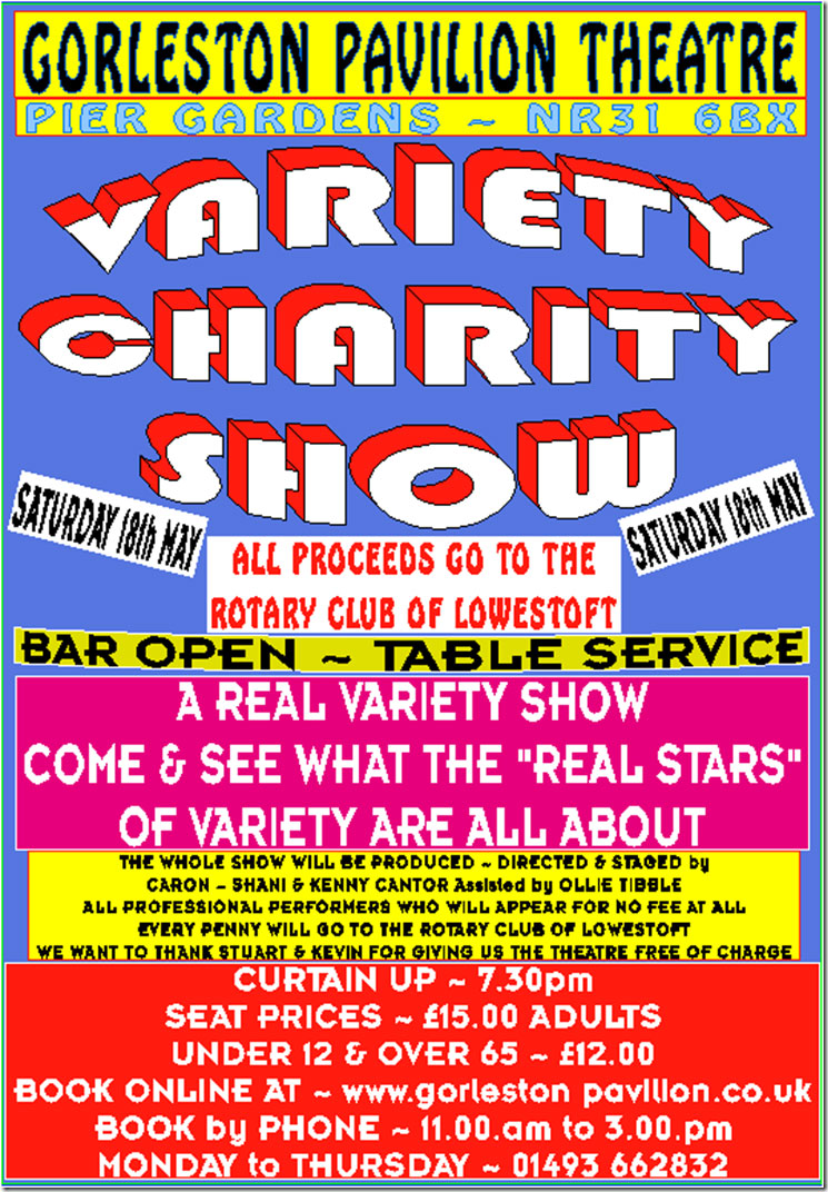 variety charity show gorleston