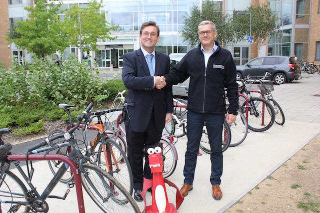 Norfolk & Norwich University Hospital bike stands