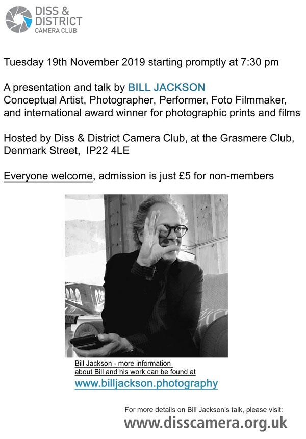 BILL JACKSON Conceptual Artist, Photographer, Performer, Foto Filmmaker