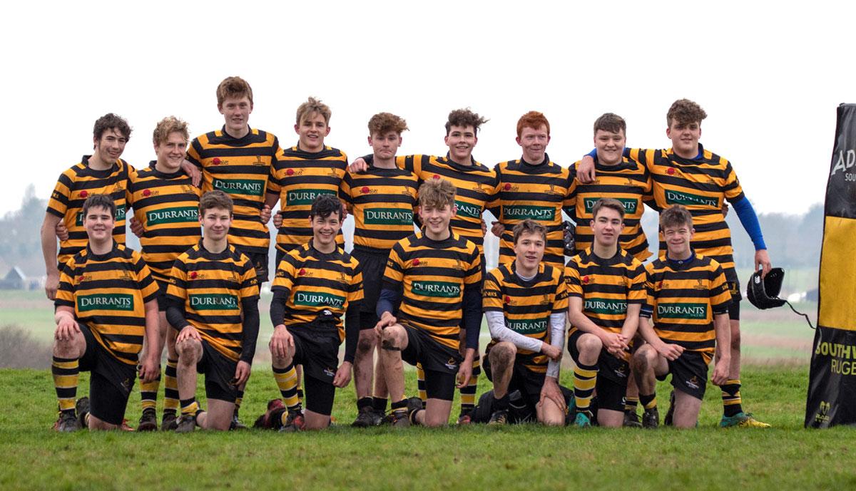 Southwold U16s Rugby Club squad