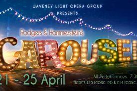 Waveney Light Opera Groups Spring 2020 production is Carousel.