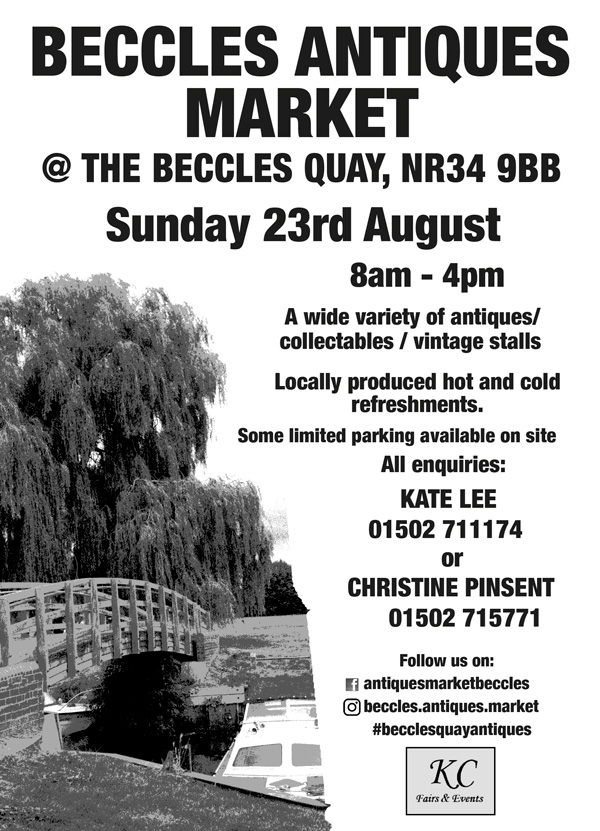 BECCLES ANTIQUES MARKET 23RD AUGUST