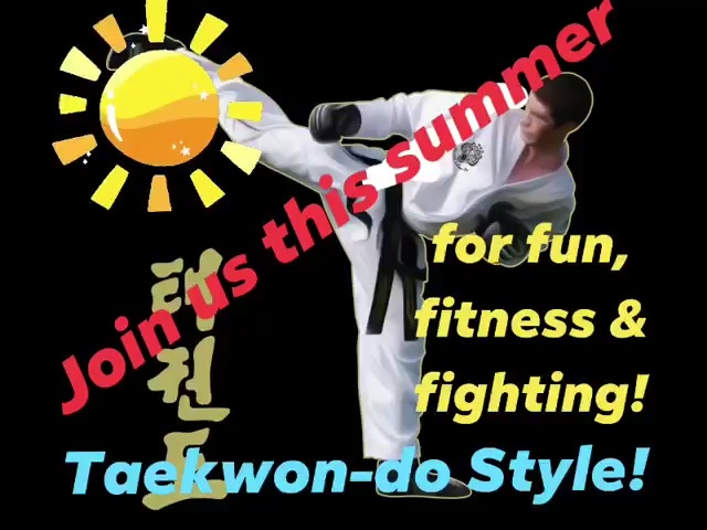 Join us this summer … for fun, fitness & fighting! Taekwon-do Style! Mondays & Thursdays at The Venue, Beccles BOOK HERE!